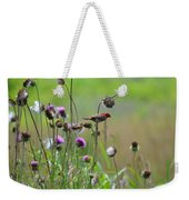 Common Redpoll In A Field Of Thistle Weekender Tote Bag