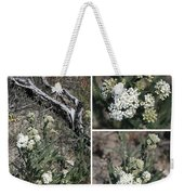 Common Yarrow Collage Weekender Tote Bag