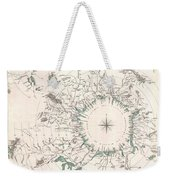 Comparative Map Or Chart Of The Worlds Great Rivers Weekender Tote Bag