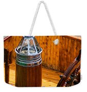 Compass And Bright Work Old Sailboat Weekender Tote Bag