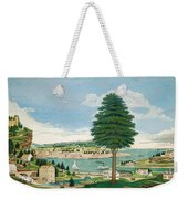 Composite Harbor Scene With Castle Weekender Tote Bag