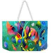 Composition In Blue And Green Weekender Tote Bag