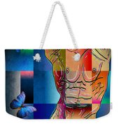 Composition In Blue Weekender Tote Bag