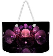 Computer Generated Pink Abstract Bubbles Fractal Flame Art Weekender Tote Bag