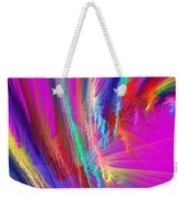 Computer Generated Pink Abstract Fractal Weekender Tote Bag