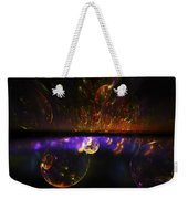 Computer Generated Red Blue Abstract Fractal Flame Modern Art Weekender Tote Bag