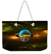 Computer Generated Sphere Abstract Fractal Flame Modern Art Weekender Tote Bag