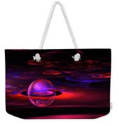 Computer Generated Sphere Red Abstract Fractal Flame Art Weekender Tote Bag