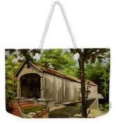Comstock Covered Bridge East Hamptom Connecticut Weekender Tote Bag