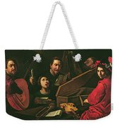 Concert With Musicians And Singers, C.1625 Oil On Canvas Weekender Tote Bag