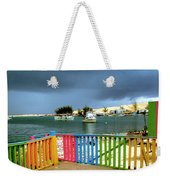 Conch Boats Arriving Weekender Tote Bag