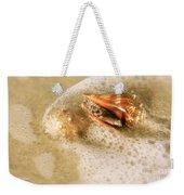Conchs In Surf 1 Antique Weekender Tote Bag