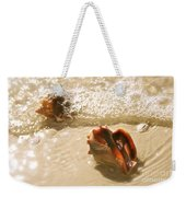 Conchs In Surf 2 Antique Weekender Tote Bag