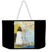 Concord Pt Lighthouse Md Nautical Chart Map Art Cathy Peek Weekender Tote Bag