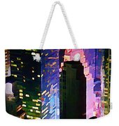 Concrete Canyons Of Manhattan At Night  Weekender Tote Bag