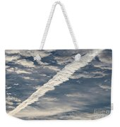 Condensation Trails - Contrails - Airplane Weekender Tote Bag