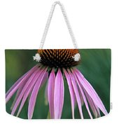 Cone Flower In Vertical Format Weekender Tote Bag