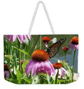 Coneflower With Butterfly Weekender Tote Bag