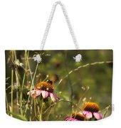 Coneflowers Weeds And Bee Weekender Tote Bag