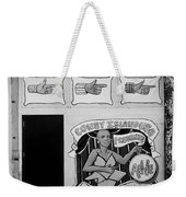 Coney Island Alive In Black And White Weekender Tote Bag