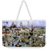 Coney Island Beach And Boardwalk Weekender Tote Bag
