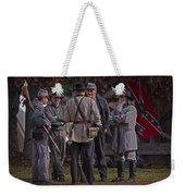 Confederate Civil War Reenactors With Rebel Confederate Flag Weekender Tote Bag