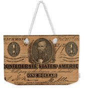 Confederate Dollar Bill Weekender Tote Bag