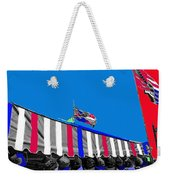 Confederate Flag Us Flag Line Of Hats Tucson Arizona Color Added Weekender Tote Bag