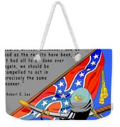 Confederate States Of America Robert E Lee Weekender Tote Bag by Digital Creation