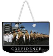 Confidence Inspirational Quote Weekender Tote Bag by Stocktrek Images