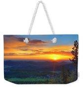 Conifer Sunrise Weekender Tote Bag