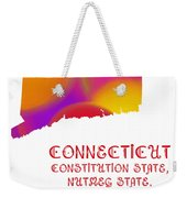 Connecticut State Map Collection 2 Weekender Tote Bag