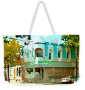 Connie's Pizza Psc Rue Charlevoix Near Grand Trunk Autumn Scene Pointe St Charles Art Carole Spandau Weekender Tote Bag