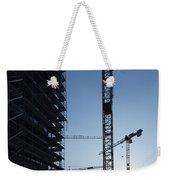 Construction Cranes In Backlit Weekender Tote Bag