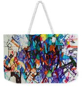 Construction Of Self 1 Weekender Tote Bag by David Baruch Wolk