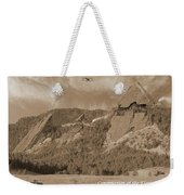 Construction Of The Flatirons - 1931 - Sepia Weekender Tote Bag
