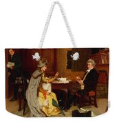 Consulting Her Lawyer Weekender Tote Bag