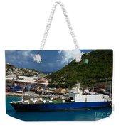 Container Ship St Maarten Weekender Tote Bag