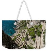 Contemplating Mediterranean Vacations - Via Krupp Capri Island Italy Weekender Tote Bag