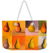 Contemplating The Pear Weekender Tote Bag