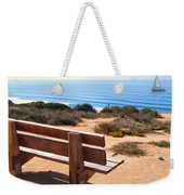 Contemplation Bench At The Oceans Edge Weekender Tote Bag