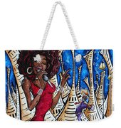 Contemporary New Orleans Jazz Blues Original Painting Singin In The Streets Weekender Tote Bag