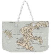 Continent Of Verme Weekender Tote Bag