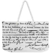 Continental Army: Pay Weekender Tote Bag