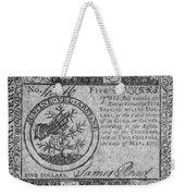 Continental Currency, 1775 Weekender Tote Bag
