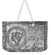 Continental Currency, 1777 Weekender Tote Bag