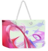 Contortion Pastel Abstract  Weekender Tote Bag