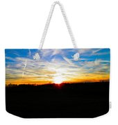 Contrail Sunset Weekender Tote Bag