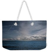 Contrails And Rainclouds Over Lake Michigan Weekender Tote Bag
