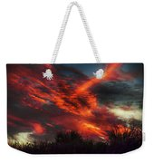 Contrails And Sunset Weekender Tote Bag